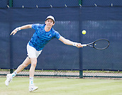 June 13th 2017, Nottingham, England; ATP Aegon Nottingham Open Tennis Tournament day 4;  John-Patrick Smith of Australia on his way to victory over Luca Vanni of Italy