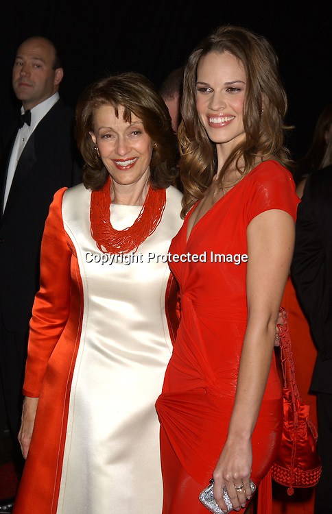 Evelyn Lauder and Hilary Swank