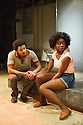 London, UK. 01.11.2012. but i cd only whisper by Kristiana Colon, opens at the Arcoala Theatre. Picture shows:  Tunji Kasim and Emmanuella Cole. Photo credit: Jane Hobson.