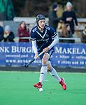 AMSTELVEEN - Morris de Vilder (Pinoke) met hoofdbeschermer, kapje, kap,  tijdens de competitie hoofdklasse hockeywedstrijd heren, Pinoke-Amsterdam (1-1)   COPYRIGHT KOEN SUYK