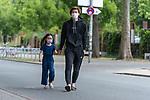 07.07.2020, Trainingsgelaende am wohninvest WESERSTADION,, Bremen, GER, 1.FBL, Werder Bremen - der Tag nach Heidenheim, im Bild<br /> <br /> <br /> <br /> Yuya Osako (Werder Bremen #08) mit Tochter Julia (5)<br /> <br /> Foto © nordphoto / Kokenge