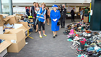 16 June 2017 - London, England - Queen Elizabeth II and Prince William Duke of Cambridge arrive for a visit to the Westway Sports Centre, London,  which is providing temporary shelter for those who have been made homeless in the Grenfell Tower disaster. Photo Credit: Alpha Press/AdMedia