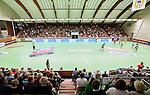 Stockholm 2014-09-26 Handboll Elitserien Hammarby IF - Ricoh HK :  <br /> Vy &ouml;ver Eriksdalshallen med publik p&aring; l&auml;ktarna under matchen mellan Hammarby och Ricoh<br /> (Foto: Kenta J&ouml;nsson) Nyckelord:  Eriksdalshallen Hammarby HIF HeIF Bajen Ricoh HK RHK inomhus interi&ouml;r interior supporter fans publik supporters