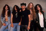 Rock band, Arcade, featuring ex-Ratt vocalist, Stephen Pearcy, pose for a portrait session.
