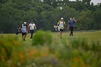 Brooks Koepka (USA) and Aaron Wise (USA) make their way down 14 during the round 1 of the AT&T Byron Nelson, Trinity Forest Golf Club, Dallas, Texas, USA. 5/9/2019.<br /> Picture: Golffile | Ken Murray<br /> <br /> <br /> All photo usage must carry mandatory copyright credit (© Golffile | Ken Murray)