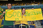 Brazil fans (BRA),<br /> JULY 8, 2014 - Football / Soccer :<br /> Brazil fans show signs before the FIFA World Cup Brazil 2014 Semi-finals match between Brazil 1-7 Germany at Estadio Mineirao in Belo Horizonte, Brazil. (Photo by SONG Seak-In/AFLO)