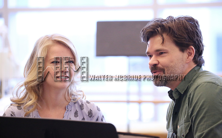 Whitney Bashor and Hunter Foster perform at the 'The Bridges of Madison County' Media Day at the New 42nd Street Studios on December 16, 2013 in New York City.