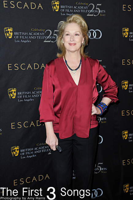 Meryl Streep attends the 2012 BAFTA Golden Globes Tea Party at the Four Seasons Hotel in Beverly Hills, CA on Saturday, January 14, 2012.