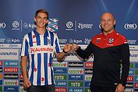 VOETBAL: HEERENVEEN: 27-07-2020, SC Heerenveen nieuwe speler Sieben Dewaele (BEL), trainer Johnny Jansen, ©foto Martin de Jong