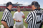 Orange, CA 05/17/14 - Jim Mirabito of Colorado speaks with the referees prior to the game.