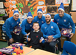 St Johnstone players took some festive cheer to Fairview School in Perth gving out selection boxes and gifts to the pupils&hellip;The players from left, Paul Paton, Zander Clark, Keith Watson, Alan Mannus and Joe Shaughnessy pictured with Ben a secondary school pupil who is massive St Johnstone fan who goes to games with his father<br />
