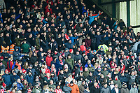 Lincoln City fans enjoy the pre-match atmosphere<br /> <br /> Photographer Chris Vaughan/CameraSport<br /> <br /> The EFL Sky Bet League Two - Lincoln City v Grimsby Town - Saturday 19 January 2019 - Sincil Bank - Lincoln<br /> <br /> World Copyright © 2019 CameraSport. All rights reserved. 43 Linden Ave. Countesthorpe. Leicester. England. LE8 5PG - Tel: +44 (0) 116 277 4147 - admin@camerasport.com - www.camerasport.com