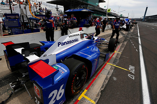 Verizon IndyCar Series<br /> Indianapolis 500 Practice<br /> Indianapolis Motor Speedway, Indianapolis, IN USA<br /> Wednesday 17 May 2017<br /> Takuma Sato, Andretti Autosport Honda<br /> World Copyright: Phillip Abbott<br /> LAT Images<br /> ref: Digital Image abbott_indyP_0517_13994