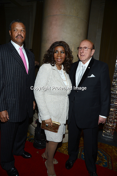 Aretha Franklin and Clive Davis  attend the Fashion Group International's Night of Stars Gala on October 22, 2013 at Cipriani Wall Street in New York City.