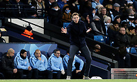 1899 Hoffenheim manager Julian Nagelsmann shouts instructions to his team from the dug-out <br /> <br /> Photographer Rich Linley/CameraSport<br /> <br /> UEFA Champions League Group F - Manchester City v TSG 1899 Hoffenheim - Wednesday 12th December 2018 - The Etihad - Manchester<br />  <br /> World Copyright © 2018 CameraSport. All rights reserved. 43 Linden Ave. Countesthorpe. Leicester. England. LE8 5PG - Tel: +44 (0) 116 277 4147 - admin@camerasport.com - www.camerasport.com