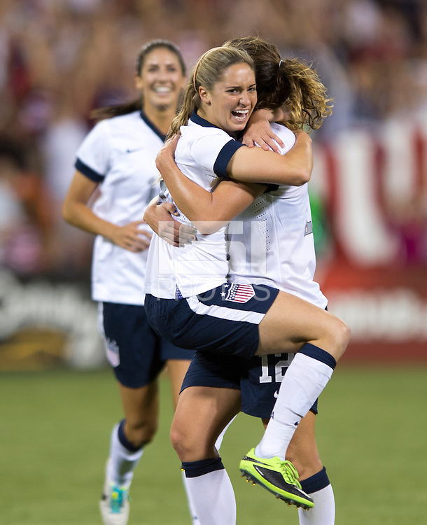 Lauren Holiday, Morgan Brian. The USWNT defeated Mexico, 7-0, during an international friendly at RFK Stadium in Washington, DC.  The USWNT defeated Mexico, 7-0.