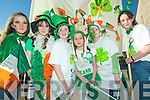 Youth parade: Members of the Brosna Youth Club taking part in the Abbeyfeale St Patrick's Day parade on Tuesday l-r Ciara Connelly, Shelly Reidy, Michelle Greaney, Leah O'Sullivan, Amanda Nolan and Claire O'Shea.
