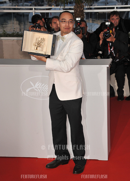 Palme D'Or winner Apichatpong Weerasethakul at the closing Awards Gala at the 63rd Festival de Cannes..May 23, 2010  Cannes, France.Picture: Paul Smith / Featureflash