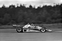 ANDERSTORP, SWEDEN - JUNE 13: Niki Lauda of Austria drives his Ferrari 312T2 026/Ferrari 015 during the Grand Prix of Sweden FIA Formula 1 race at Scandinavian Raceway near Anterstorp, Sweden, on June 13, 1976.