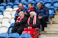 The travelling support wrapped up well for the 4th v 6th clash in EFL2 during Colchester United vs Exeter City, Sky Bet EFL League 2 Football at the JobServe Community Stadium on 24th November 2018