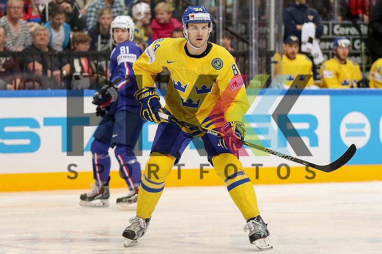 Schwedens Klefbom, Oscar (Nr.84)  im Spiel IIHF WC15 Frankreich vs. Schweden.<br /> <br /> Foto &copy; P-I-X.org *** Foto ist honorarpflichtig! *** Auf Anfrage in hoeherer Qualitaet/Aufloesung. Belegexemplar erbeten. Veroeffentlichung ausschliesslich fuer journalistisch-publizistische Zwecke. For editorial use only.