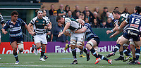 Ealing's Carwyn Jones looks to drive on during the Greene King IPA Championship match between Ealing Trailfinders and Bedford Blues at Castle Bar , West Ealing , England  on 29 October 2016. Photo by Carlton Myrie / PRiME Media