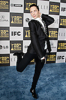 Olympic figure skater Johnny Weir arrives at the 25th Independent Spirit Awards held at the Nokia Theater in Los Angeles on March 5, 2010. The Independent Spirit Awards is a celebration honoring films made by filmmakers who embody independence and originality..Photo by Nina Prommer/Milestone Photo