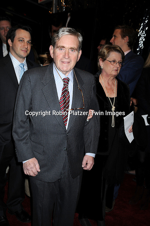 """Bob Zelnick..posing for photographers at The New York Premiere of..""""FROST/NIXON"""" on November 17, 2008 at The Ziegfeld Theatre. ....Robin Platzer, Twin Images"""