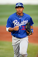 September 2, 2009: Angelo Songco of the Ogden Raptors, Pioneer League Rookie Class A affiliate of the Los Angeles Dodgers, during a game at the Orem Owlz Ballpark in Orem, UT.  Photo by:  Matthew Sauk/Four Seam Images