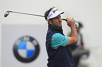 Gonzalo Fernandez-Castano (ESP) tees off the 2nd tee during Thursday's Round 1 of the 2014 BMW Masters held at Lake Malaren, Shanghai, China 30th October 2014.<br /> Picture: Eoin Clarke www.golffile.ie