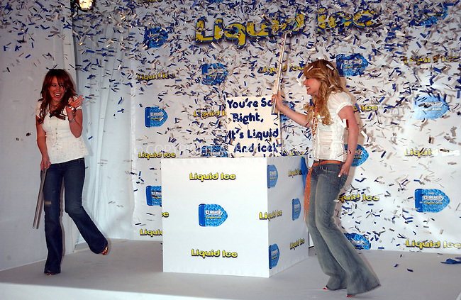 WWW.ACEPIXS.COM . . . . . ....NEW YORK, FEBRUARY 17, 2005....Hilary Duff and Haylie Duff at the press conference to announce their ad campaign for 'Ice Breakers' at Milk Studios.....Please byline: KRISTIN CALLAHAN - ACE PICTURES.. . . . . . ..Ace Pictures, Inc:  ..Philip Vaughan (646) 769-0430..e-mail: info@acepixs.com..web: http://www.acepixs.com