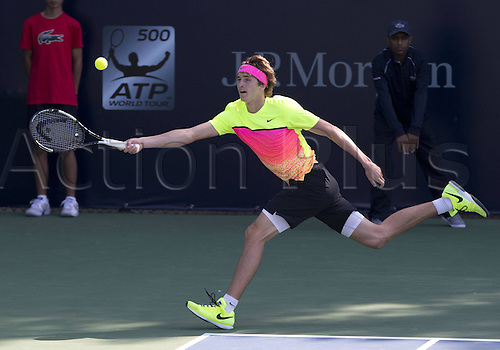 24.02.2015. Dubai, United Arab Emirates.  Alexander Zverev (GER)  Dubai Duty Free Tennis Championships