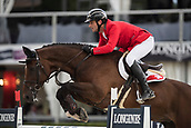 28th September 2017, Real Club de Polo de Barcelona, Barcelona, Spain; Longines FEI Nations Cup, Jumping Final; Werner MUFF (SUI) riding Daimler during the first round of the Nations Cup