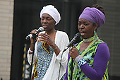 4626, 4642 &ndash; Ugochi Nwaogwugwu and Zahra sang songs of freedom.<br /> <br /> The African International House and the Reva and David Logan Center hosted an event at the Logan Center Saturday evening to celebrate African American Music Appreciation Month. The Logan Center is located at 915 E. 60th Street.<br /> <br /> All rights to this photo are owned by Spencer Bibbs of Spencer Bibbs Photography and may only be used in any way shape or form, whole or in part with written permission by the owner of the photo, Spencer Bibbs.<br /> <br /> For all of your photography needs, please contact Spencer Bibbs at 773-895-4744. I can also be reached in the following ways:<br /> <br /> Website &ndash; www.spbdigitalconcepts.photoshelter.com<br /> <br /> Text - Text &ldquo;Spencer Bibbs&rdquo; to 72727<br /> <br /> Email &ndash; spencerbibbsphotography@yahoo.com