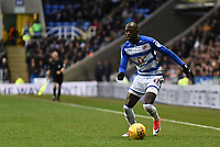 Modou Barrow of Reading during the Sky Bet Championship match between Reading and Burton Albion at the Madejski Stadium, Reading, England on 23 December 2017. Photo by Paul Paxford.