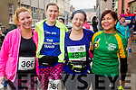 Jennifer Shanahan, Catherine Costello, Maria Moynihan and Arlene Mahony at the start of the Kerry's Eye Tralee, Tralee Half Marathon on Saturday.