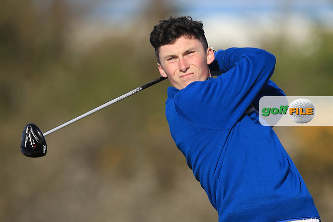 M Healy (Kinsale) on the 4th tee during Round 1 of the Munster Stroke Play Championship at Cork Golf Club on Saturday 30th April 2016.<br /> Picture:  Thos Caffrey / www.golffile.ie