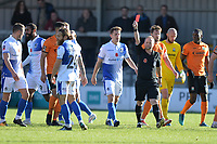 Stuart Sinclair Of Bristol Rovers is shown the red card after 8 mins during Barnet vs Bristol Rovers, Emirates FA Cup Football at the Hive Stadium on 11th November 2018