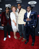 """LOS ANGELES - JAN 23:  Michael Bivins, Debra Lee, Ronnie DeVoe, Ricky Bell at the BET's """"The New Edition Story"""" Premiere Screening at Paramount Studios on January 23, 2017 in Los Angeles, CA"""