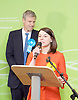 General Election count for the Twickenham &amp; Richmond Park constituencies at the Twickenham Rugby Stadium, Twickenham, Middlesex, Great Britain <br /> 9th June 2017 <br /> <br /> Zac Goldsmith wins the Richmond Park <br /> Sarah Only (LibDem) gives her speech after losing to Zac <br /> Photograph by Elliott Franks <br /> Image licensed to Elliott Franks Photography Services