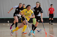 Malaysia's Pei Yi Cheah in action during the World Floorball Championships 2017 Qualification for Asia Oceania Region - New Zealand v Malaysia at ASB Sports Centre , Wellington, New Zealand on Saturday 4 February 2017.<br /> Photo by Masanori Udagawa<br /> www.photowellington.photoshelter.com.