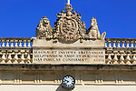 Latin writing from British colonial era, Main Guard building, Plaza St George, Valletta, Malta