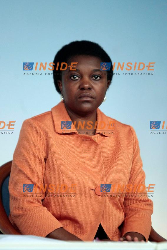 Cecile Kyenge<br /> Roma 09-09-2013 Palazzo Chigi. Conferenza stampa al termine del CDM, Cosiglio dei Ministri.<br /> Press conference at the end of the Minister's Cabinet<br /> Photo Samantha Zucchi Insidefoto