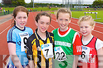 Ellie O'Connor Caherciveen, Rebecca Falvey Abbeydourney, Katie Gill Ballydonoghue and Grace Foley Rock Street/Caherslee who ran in the u10 200m at the Community Games on Sunday