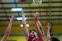 Action from the 2019 Schick AA Boys' Secondary Schools Basketball National Championships 7th place playoff between Tauranga Boys' College and Westlake Boys' High School at the Central Energy Trust Arena in Palmerston North, New Zealand on Saturday, 5 October 2019. Photo: Dave Lintott / lintottphoto.co.nz