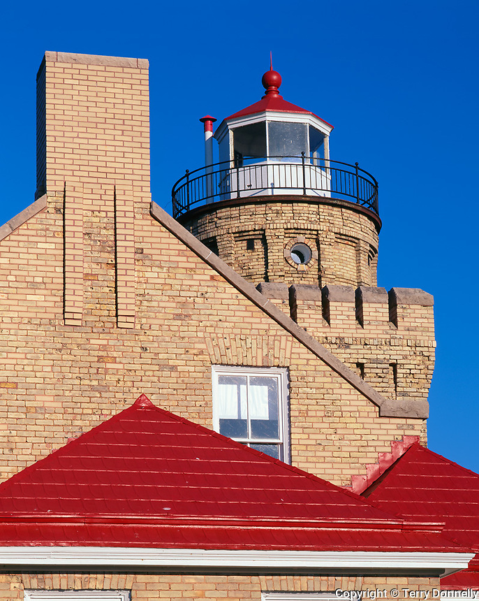 Cheboygan County, MI         &copy; Terry Donnelly  /<br /> Old Mackinac Point Light (1898) on the Straits of Mackinac, between lakes Michigan and Huron