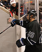 Brett Switzer (Bentley - 25) - The visiting Bentley University Falcons defeated the Boston University Terriers 4-1 (EN) on Saturday, December 14, 2013, at Agganis Arena in Boston, Massachusetts.