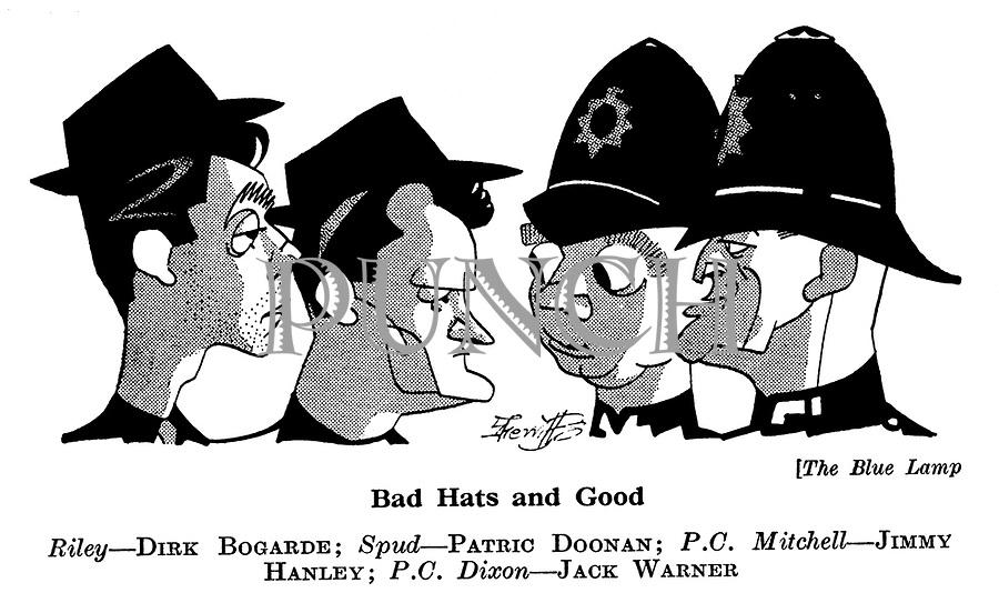 The Blue Lamp ; Dirk Bogarde , Patric Doonan , Jimmy Hanley and Jack Warner
