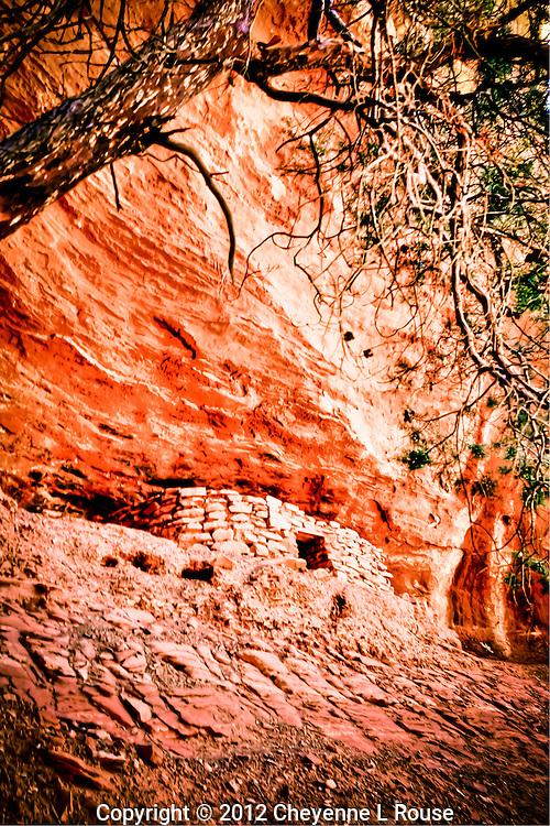 Juniper Ruin - Sedona, Arizona<br /> Ancient Sinaqua cultural site. <br /> &copy; 2012 Cheyenne L Rouse/All rights reserved