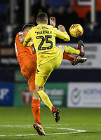 Fleetwood Town's Dean Marney competing with Luton Town's James Collins<br /> <br /> Photographer Andrew Kearns/CameraSport<br /> <br /> The EFL Sky Bet League One - Luton Town v Fleetwood Town - Saturday 8th December 2018 - Kenilworth Road - Luton<br /> <br /> World Copyright &copy; 2018 CameraSport. All rights reserved. 43 Linden Ave. Countesthorpe. Leicester. England. LE8 5PG - Tel: +44 (0) 116 277 4147 - admin@camerasport.com - www.camerasport.com